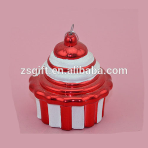 Christmas Decoration Supplies Type cake shape plastic Christmas small hanging baubles