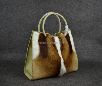 Real Fur Leather Handbags Exotic Bags Women Fashion