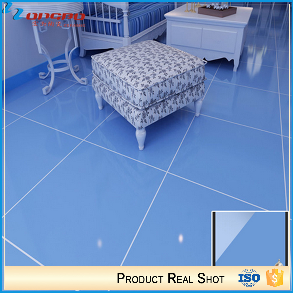 High Quality Shiny Blue Color Ceramic Tiles For Floor - Buy Color ...