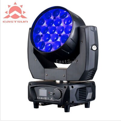 pro light moving heads Aura 19*15w rgbw zoom led moving head light mac aura