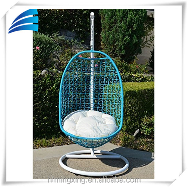 Outdoor Patio Egg Shaped Swing Chair With Stand& White ...