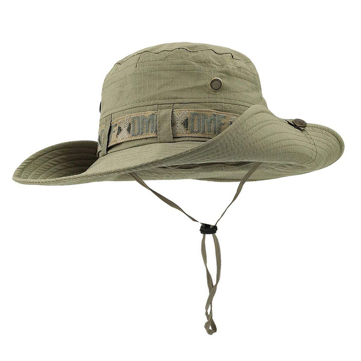 a49a968a Get Quotations · Fishing Hat Boonie Hat Summer Wide Brim Bucket Hat UV  Protection Safari Cap Outdoor Waterproof Hunting