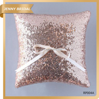 RP004 Sparkling decorative sequin wedding supplies ring pillow