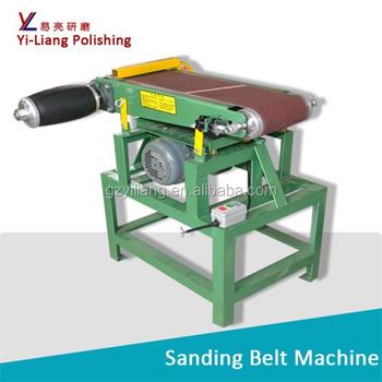 Wood And Metal Pieces Flat Sanding Belt