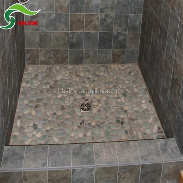 Fabricaci n m s reciente ba o guijarro piedra dise os de baldosas piso alicatados identificaci n - Mozaiek douche ...