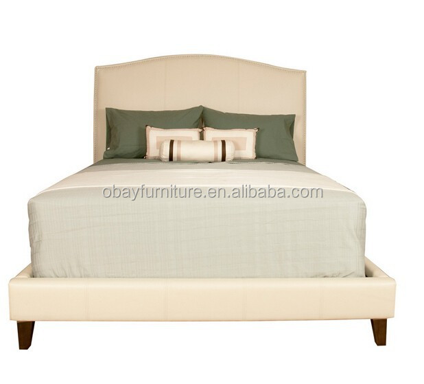 Tapizado de tela cama / tapicería cama / francés copetuda cama ...