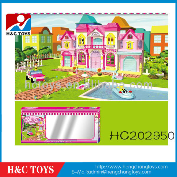 Kids educational baby building blocks toy villa,Block toy HC202950