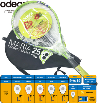 25 inch hot selling junior tennis racket HEAD design