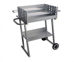 Outdoor Stainless Steel Commercial Charcoal Japanese BBQ Grill with Wheel