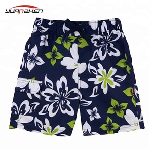Quick dry breathable sublimation printing custom board shorts with pocket