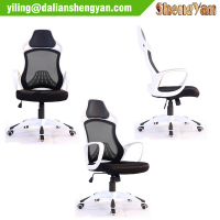 Fabric office chair with wheels