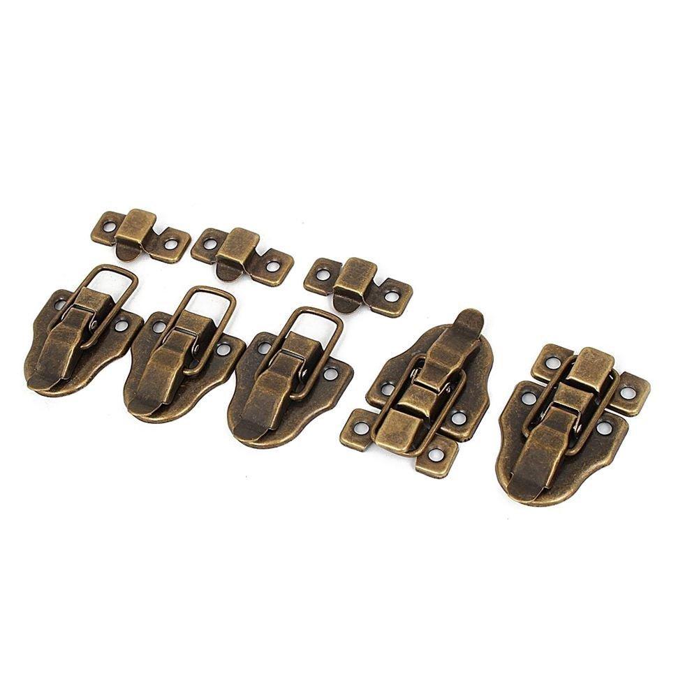 TOOGOO(R) 5x Furniture Suitcase Box Drawer Lock Chest Toggle Latch Hasp Bronze