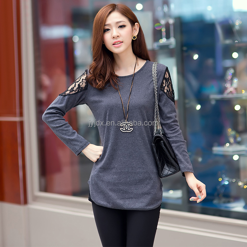 Womens Fashion Casual T-shirt With Lace