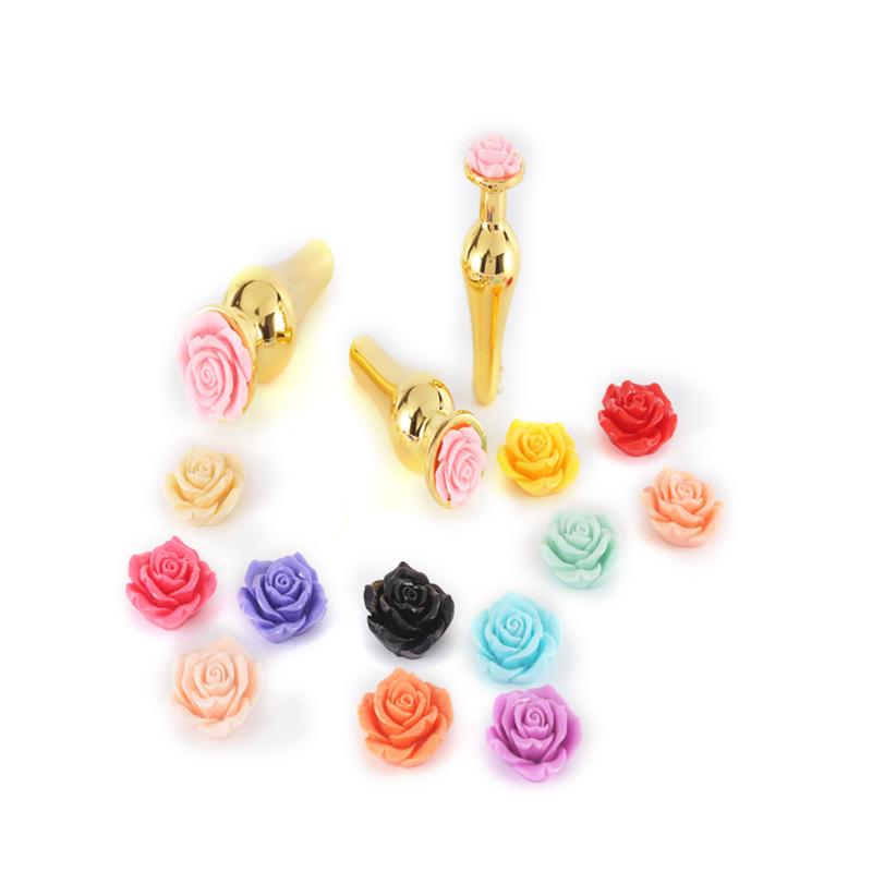 لعبة جنس خرز من الفولاذ المقاوم للصدأ وردية ثلاثية الأبعاد