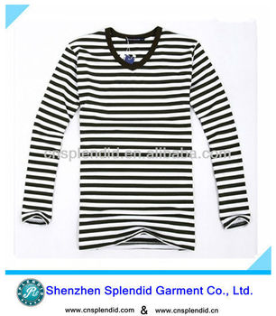 b8df9c1917d1 Black And White Horizontal Striped Shirt - Buy Black And White ...
