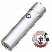 Cylinder-shaped Electric Lighter, Cigarette Lighter Factory Price Dual Arc Lighter