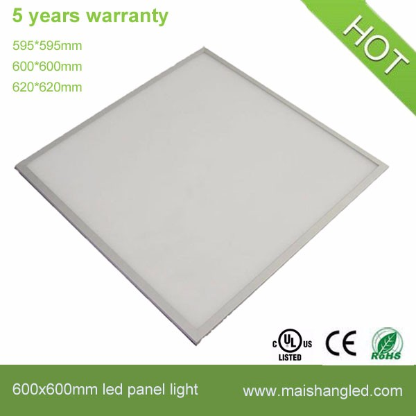 40W 600x600 mm CB GC surface mounted silver aluminum frame OEM led panel light 600 600