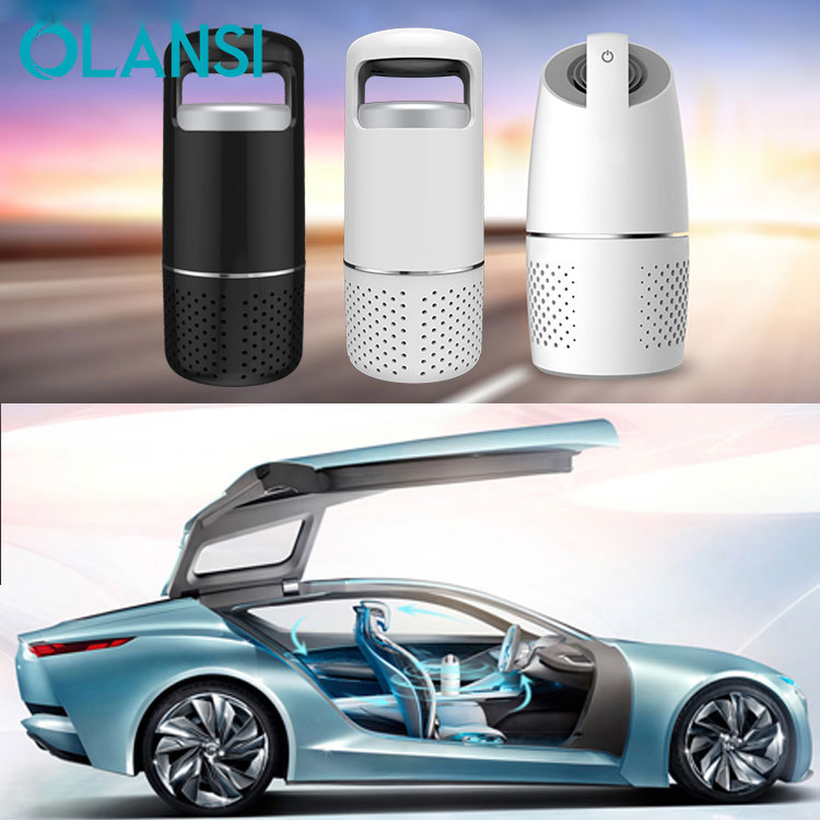 Easy breath benzene PM 2.5 OEM ODM auto ionizer HEPA filter portable USB 12V ion car air purifier