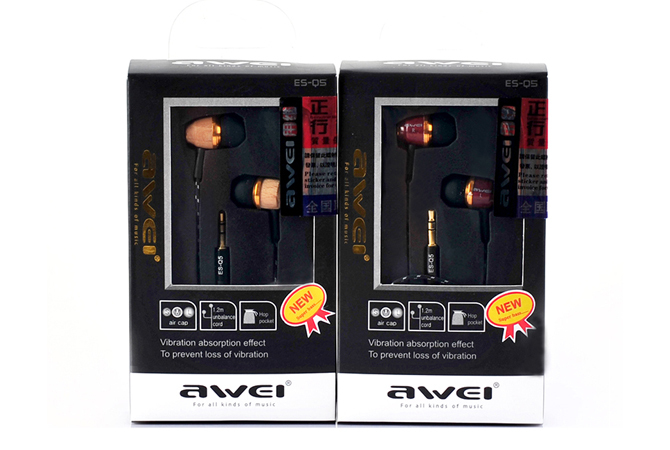 Awei Q5 дерево наушники 3,5 мм nice подарок мобильный телефон mp3 наушники