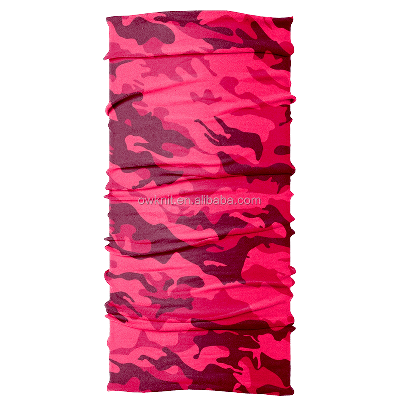 Multifunctional Seamless Polyester Digital Printing Bandana