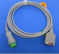 CABO de ECG com leadwires snap para a China biocare 3 IM12 monitor paciente
