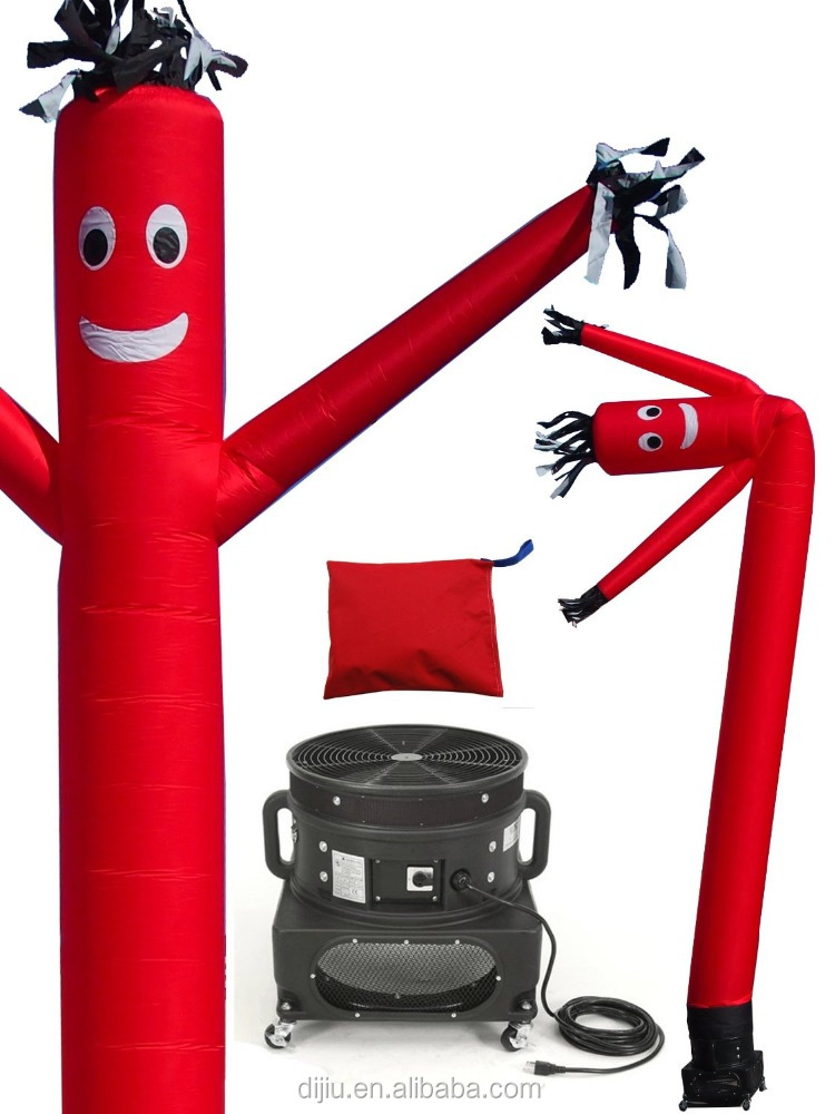 Inflatables Air Dancer Tube Man Fly Guy Puppet Complete Set, 20-Feet, Red