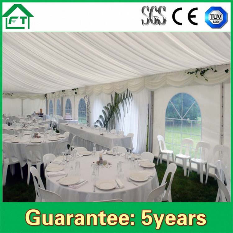 מדהים זול אוהל מסיבת חתונה עמיד למים אוהל בדואי למכירה כיסוי PVC לבן AB-31