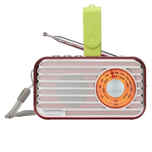 Rechargeable No Screen Boombox Telescopic Antenna 2 Band USB/TF Bluetooth MP3 Player AM FM Mini Radio