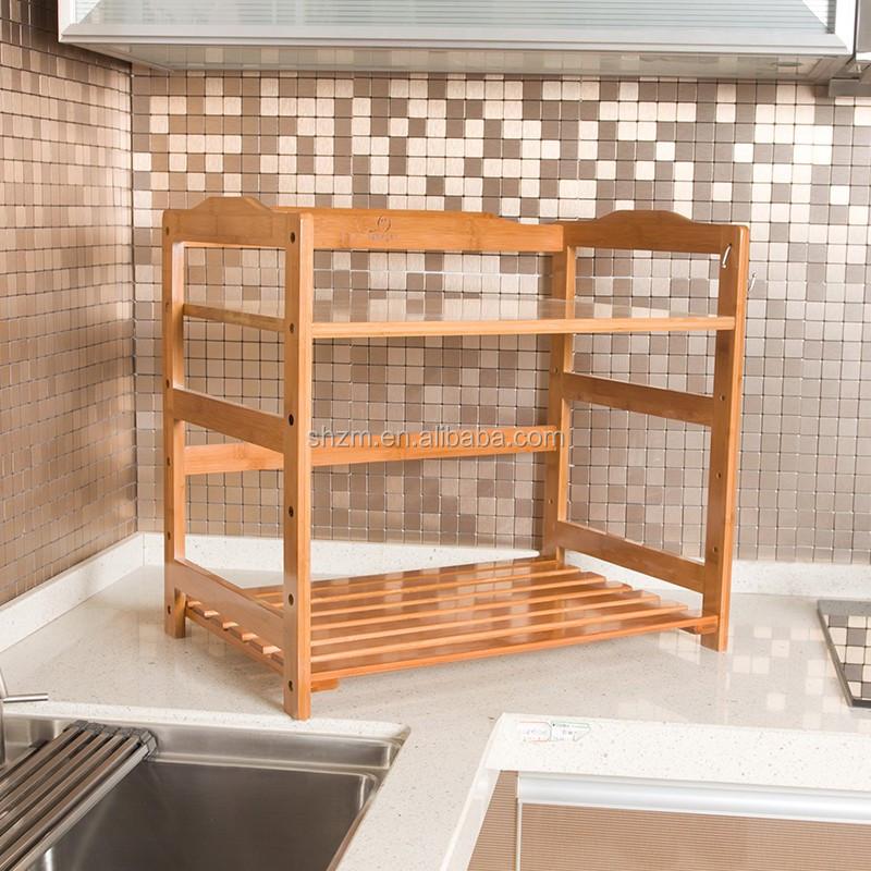 Bamboo Forno A Microonde Rack Mensole Da Cucina Di Bambù Bancone Della  Cucina E Mensola Dell\'armadio - Buy Mensola Della Cucina Per Forno A ...