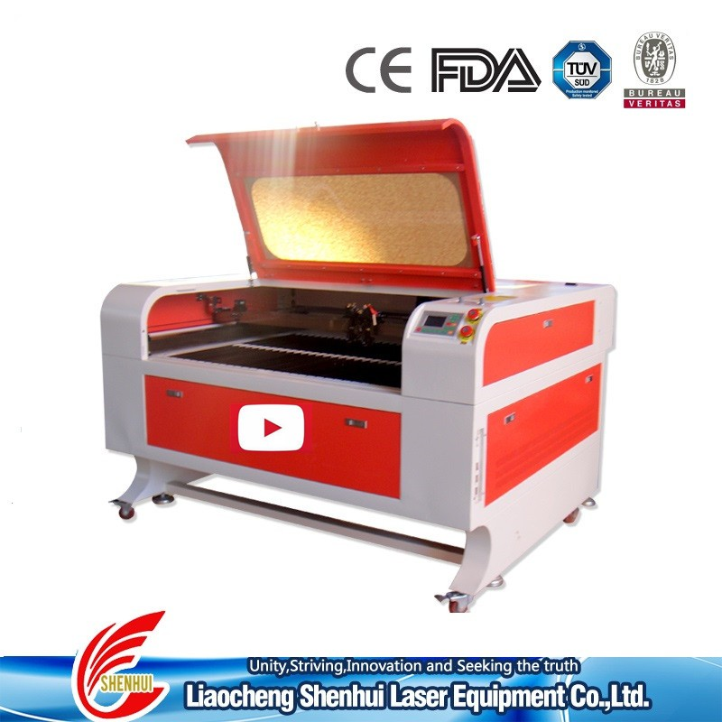 CE qualified shenhui laser factory 100w 130w CO2 laser cutting engraving machine equipment price