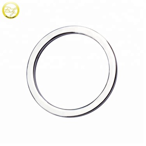 BO19 Quality handbag hardware accessories silver flat metal o ring