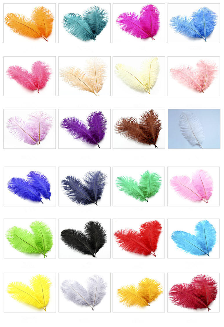 Variety of Colors 15cm to 75cm Snow White Ostrich Feathers For Wedding and Party Decoration Ostrich Feather Boa For Women