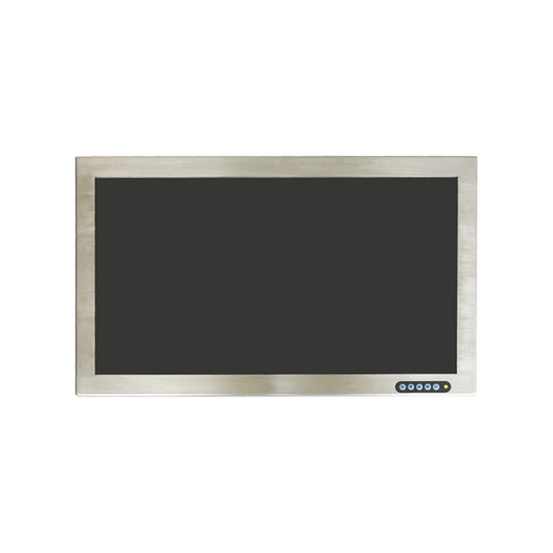 Factory Customized HD 1920*1080 monitor lcd Stainless Steel waterproof lcd monitors ip66 with Covered 3mm Anti-fogging glass