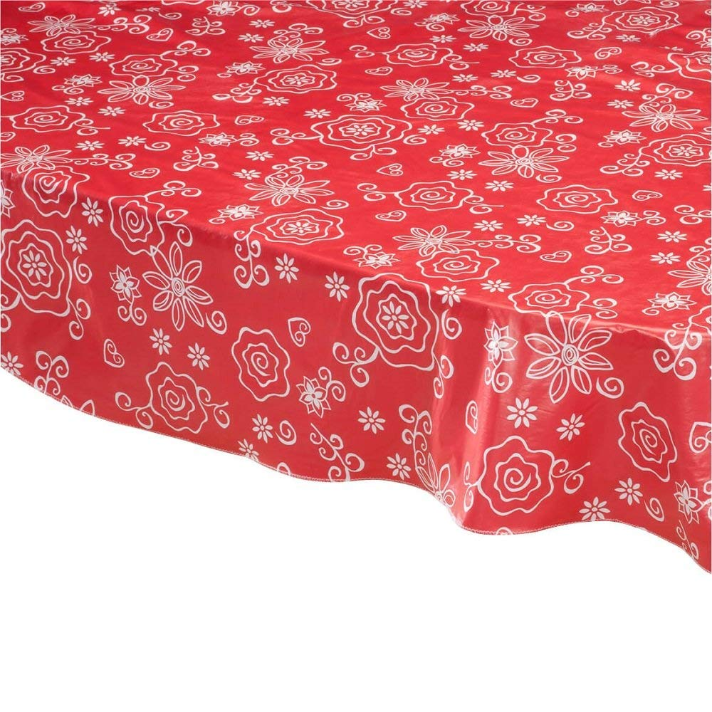 Buy Miles Kimball 54 Quot X 72 Quot Oval Vinyl Lace Tablecloth In