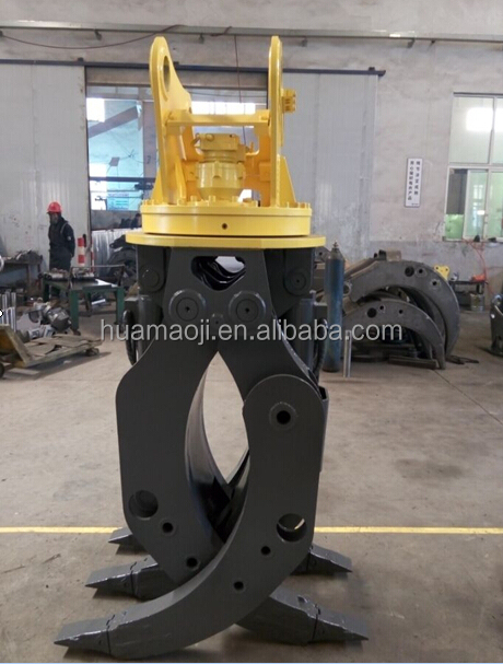 Energy wood grapple for farmers/wood grapple for 3-8 ton excavator