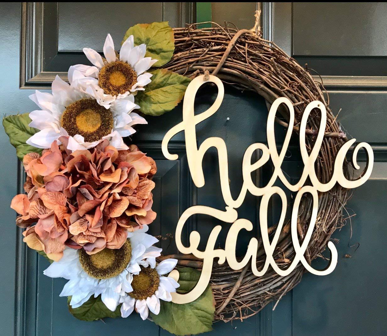 Fall wreath, hydrangea wreath, thanksgiving wreath, fall grapevine, thanksgiving decor, rustic wreath, farm house wreath, fall wreaths