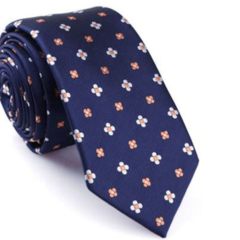 <strong>Flower</strong> Printing Navy <strong>Blue</strong> Fashion Men's Neck <strong>Tie</strong>