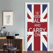 90x200 см Британский Лондонский красный телефон дверь стенда наклейка DIY домашний декор наклейка водонепроницаемая ПВХ дверь Фреска самоклею...(Китай)