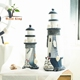 Mediterranean Style Creative Do The Old Home Craft Furnishing Articles Arts And Crafts Wooden Lighthouse Decor