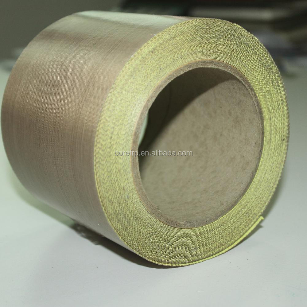 PTFE fiberglass adhesive tape without release liner