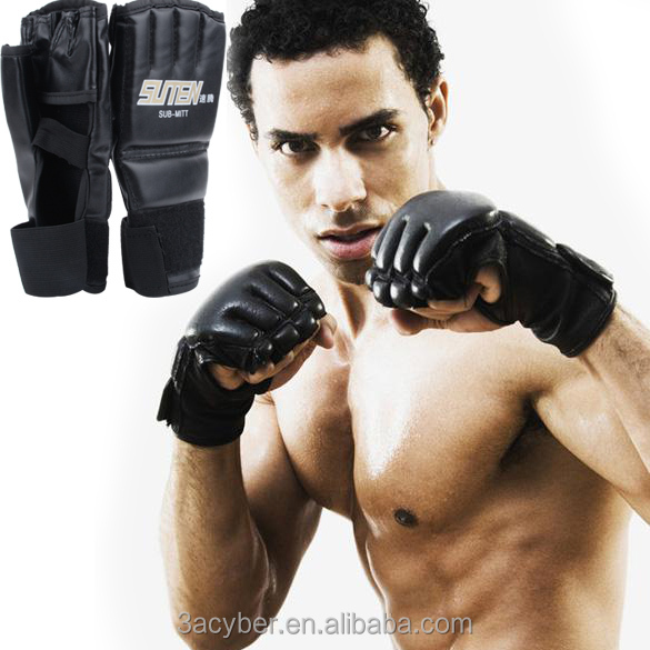 New 1 Pair Cool MMA Muay Thai Training Punching Bag Half Mitts Boxing Glove/Sparring Gloves