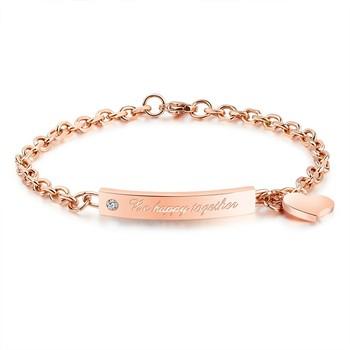 Marlary 2018 Gift Fashion Stainless Steel Friendship Bracelets Bulk Gold Charm Bracelet