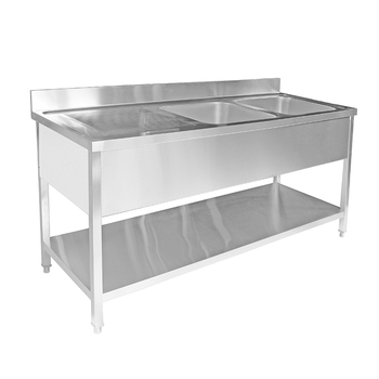 Stainless Steel Portable Kitchen Custom Size Double Sink And ...