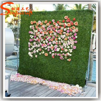 For wedding decoration stylized all kinds of artificial grass wall