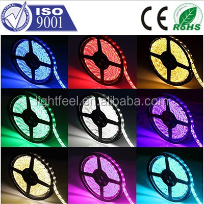 High Lumen DC12V 60LED SMD Flexible 5050 LED Strip Waterproof RGB/White/Blue/Red/Green/Yellow LED Lights Strips with CE RoHS
