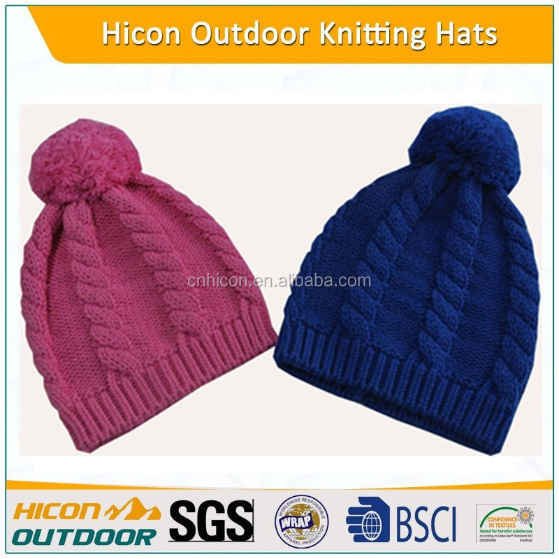 Beautiful colourful baby knitted beanie hat winter warmed hat