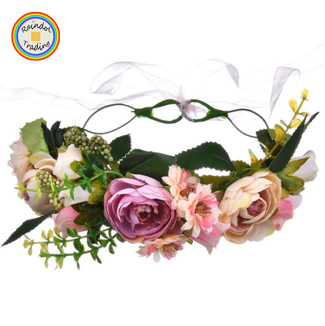Wedding Accessories Bridal Headwear Long Light And Shiny Led Flower Floral Hairband Garland Crown Glowing Wreath Vines Headband #6 Sales Of Quality Assurance