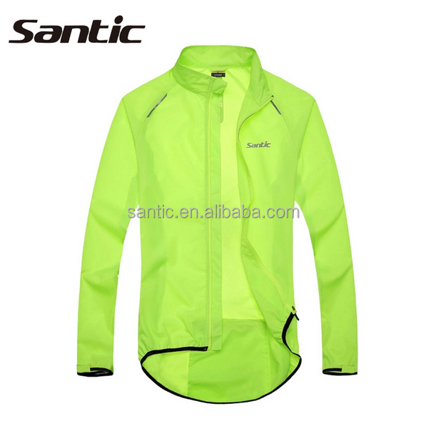 Santic Mens Cycling Jacket Anti UV Waterproof Outdoor Sports wear Bike Rain Jacket Raincoat Long Sleeve Cycling Jersey