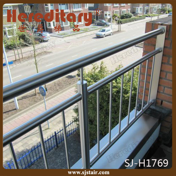 Brush Finish Decorative Prefabricate Stainless Steel Rod Railing