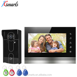 Apartment video intercom wired bell door entry systems video home intercom door phone with RFID card reader
